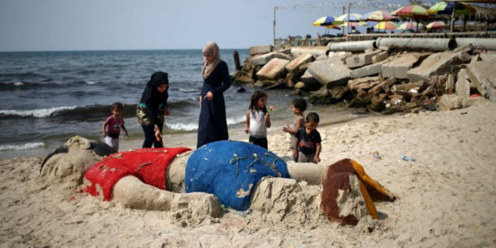 La imagén se convirtió en símbolo de la crisis de refugiados. Foto:AFP