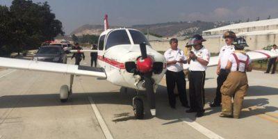 Avioneta aterriza de emergencia en la ruta al Pacífico