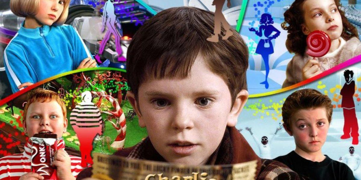 """Foto. El cambio impresionante del cast infantil de """"Charlie y la Fábrica de Chocolate"""""""