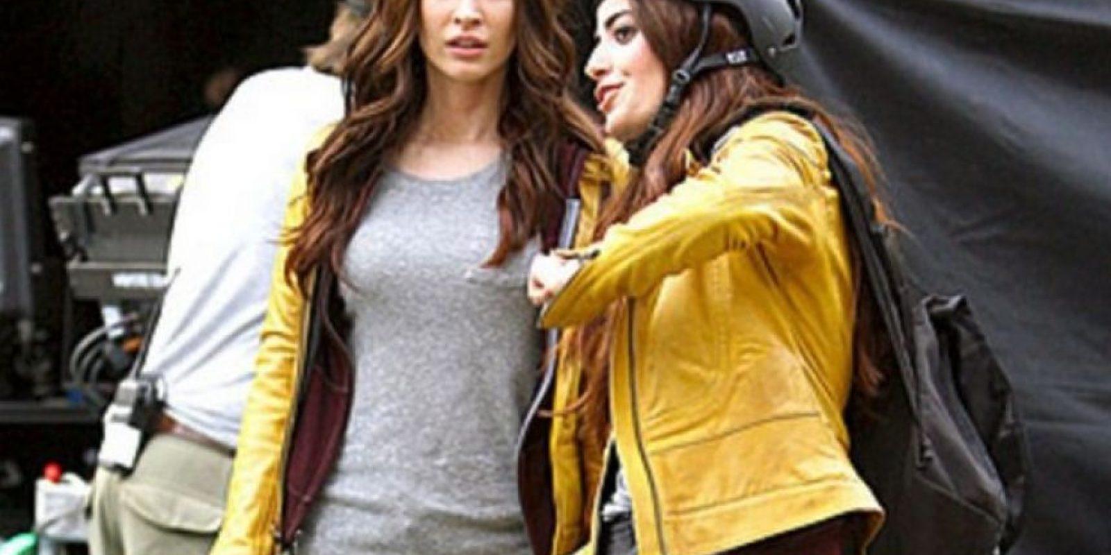 """Megan Fox y su doble en """"Tortugas Ninja"""" Foto:Vía teamfox.tumblr.com"""