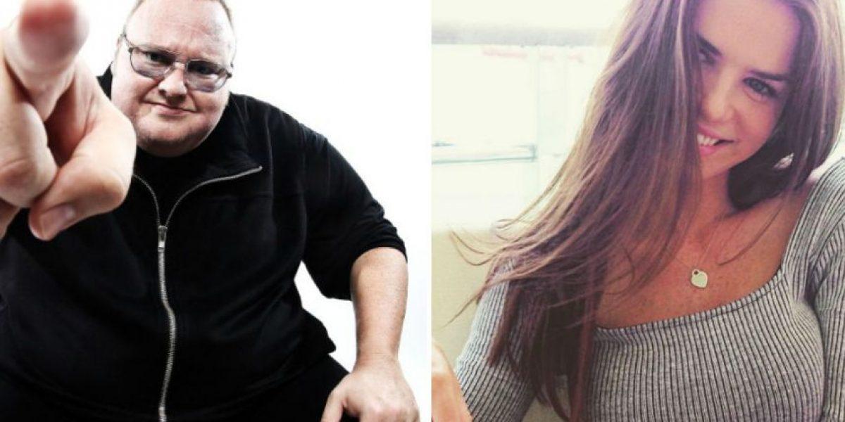 Conozcan a la nueva novia del fundador de Megaupload que es 21 años menor que él