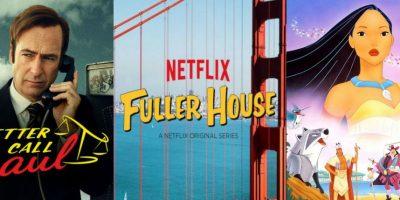 """El regreso de """"Better Call Saul"""", el spin off """"Fuller House"""", el clásico """"Pocahontas"""" y muchas novedades más. Foto:Vía Netflix"""