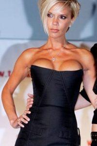 """La ex """"Spice Girl"""" y actual diseñadora de moda, Victoria Bekcham, pasó por el quirófano para aumentarse el pecho. Foto:Getty Images"""
