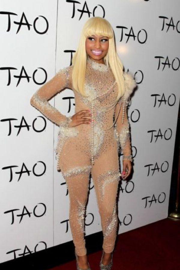 Nicki Minaj cuando copiaba a Lady Gaga. Foto:vía Getty Images