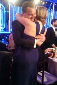 Tanto Kate Winslet y Leonardo DiCaprio fueron ganadores en este evento, Leonardo en la categoría de Mejor actor dramático y Kate en la categoría de Mejor actriz de reparto. Foto:Getty Images
