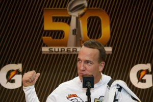El mariscal de campo de los Broncos, Peyton Manning. Foto:AFP