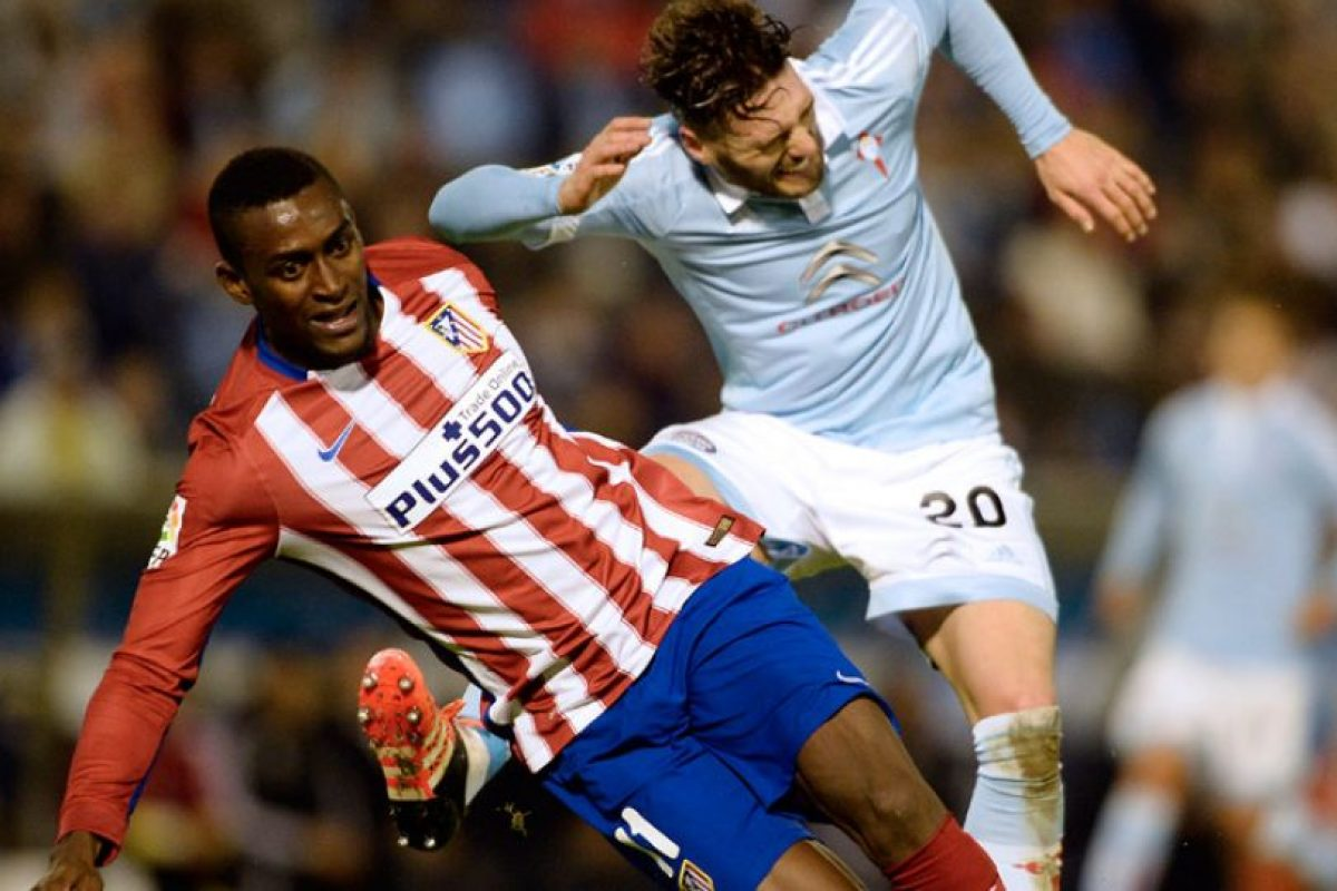 Martínez durante un partido entre el Atlético y Celta. Foto:AFP