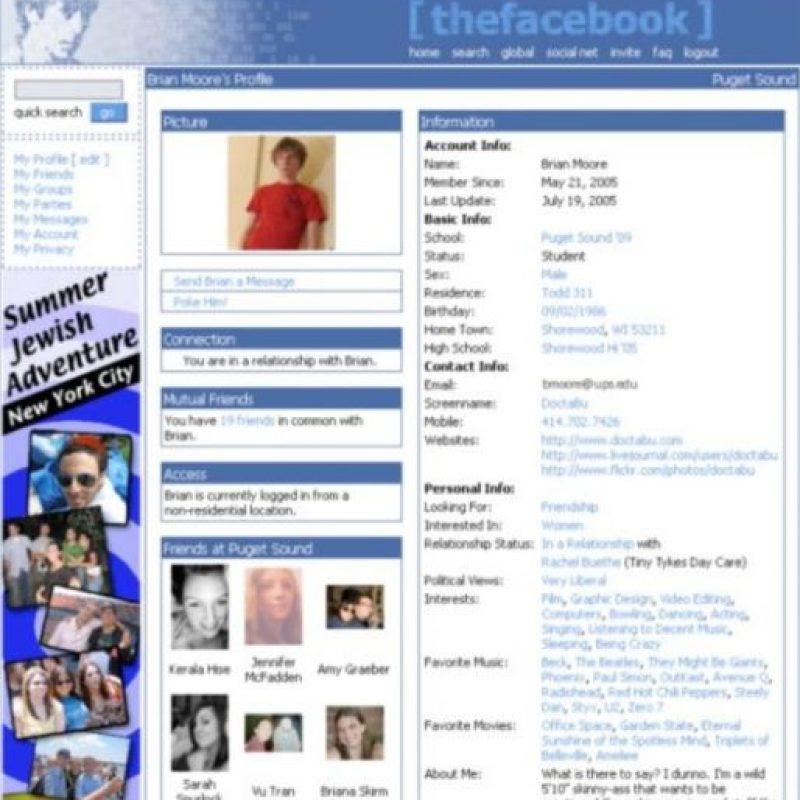 2005. Las comparaciones con MySpace no se hicieron esperar. Foto:Vía Facebook
