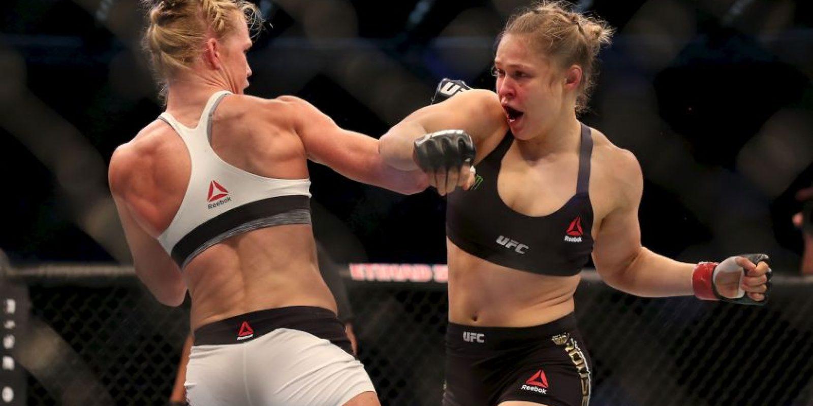 Ronda Rousey perdió el Campeonato Peso Gallo Femenino de la UFC contra Holly Holm Foto:Getty Images