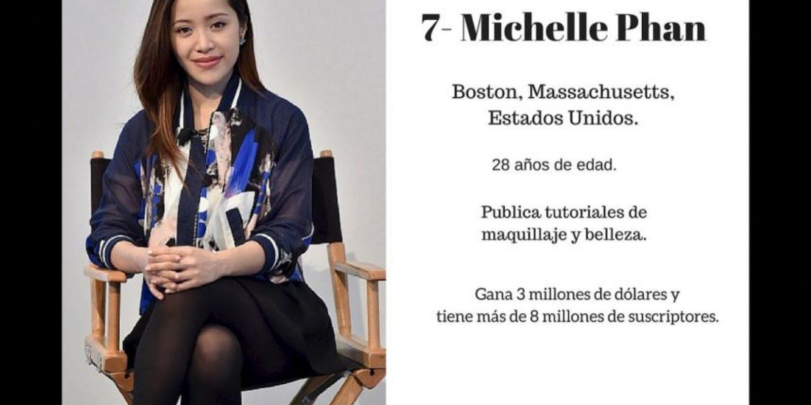 7- Michelle Phan: 3 millones de dólares. Foto:Especial / Getty Images