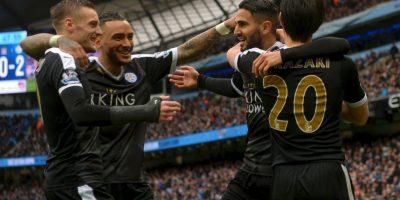 Manchester City perdió el duelo directo por la cima de la Premier League ante el Leicester City. Foto:Getty Images
