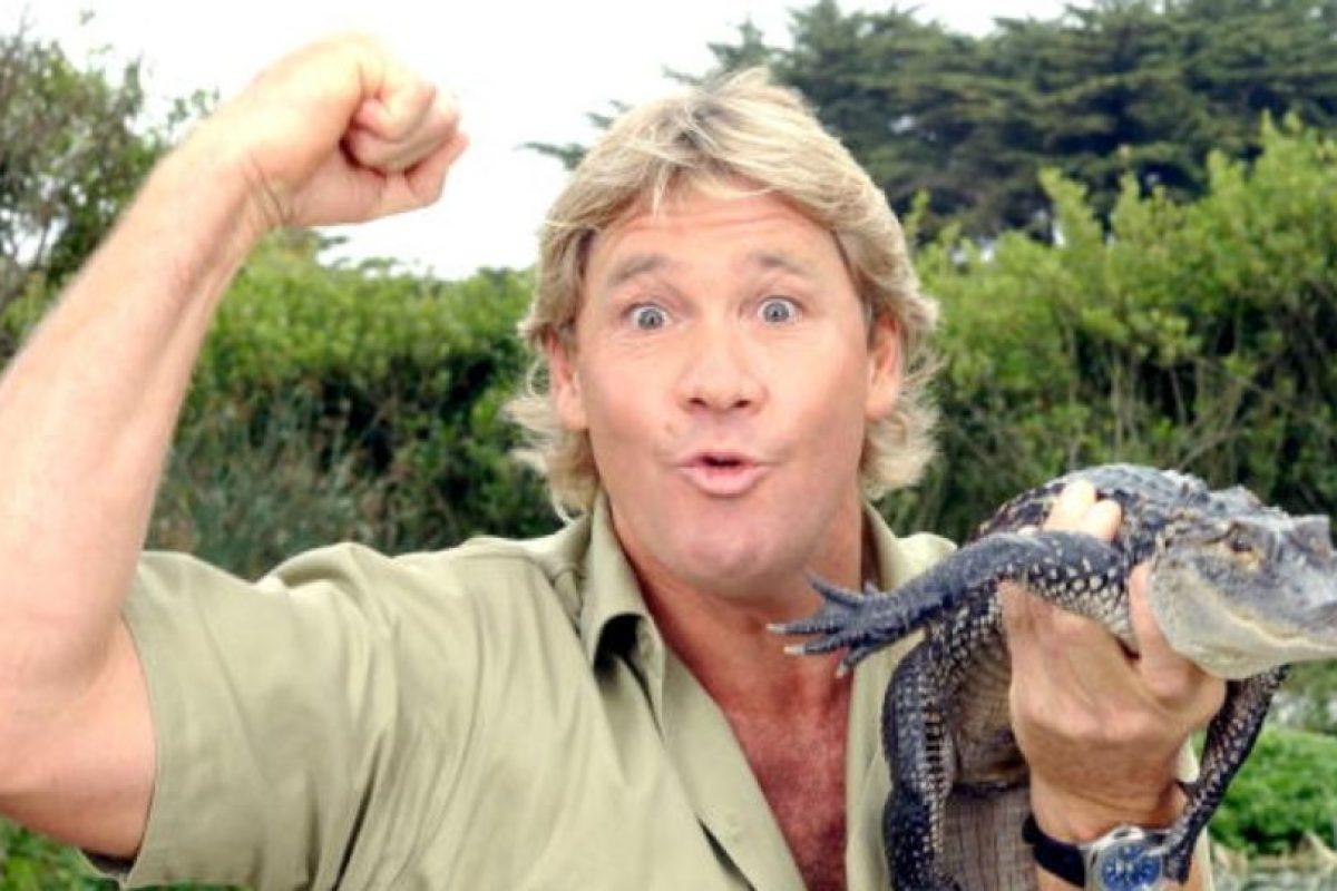 Steve Irwin murió cuando una mantarraya le picó el corazón. Foto:vía Getty Images