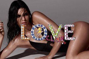 """Aunque acá en la revista """"Love"""" hace un gran esfuerzo por mostrarse con curvas. Foto:vía Love Magazine"""