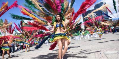 El Carnaval Olímpico se vive en El Obelisco