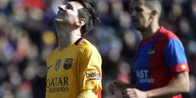 Lionel Messi se lamenta tras una ocasión fallida. Foto:AFP