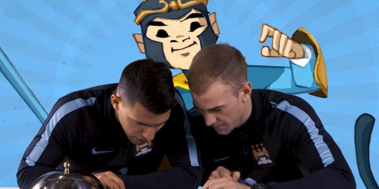 Ellos tuvieron que probar diferentes platillos chinos. Foto:YouTube Manchester City FC