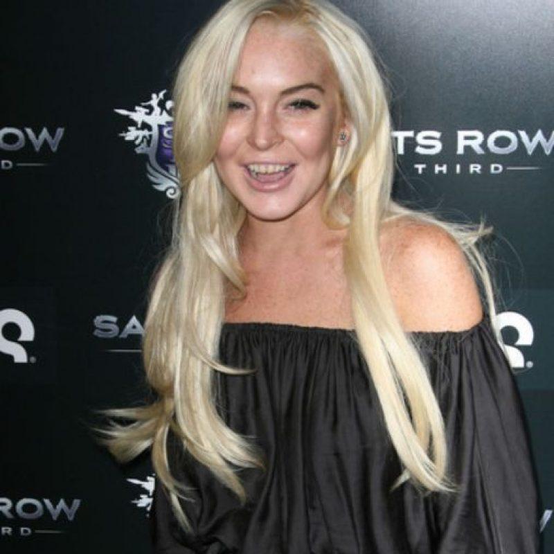 Los estragos han hecho lo suyo en la boca de Lindsay Lohan. Foto:vía Getty Images