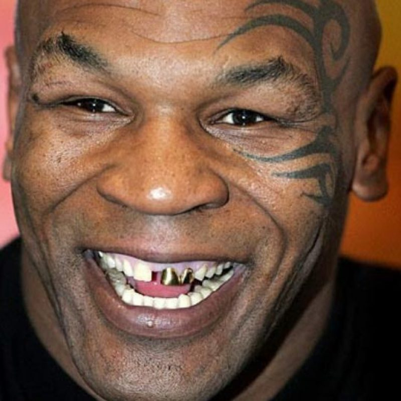 Así luce Mike Tyson. Foto: vía Getty Images