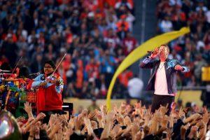 "Coldplay apareció con ""Yellow"". Foto:Getty Images"