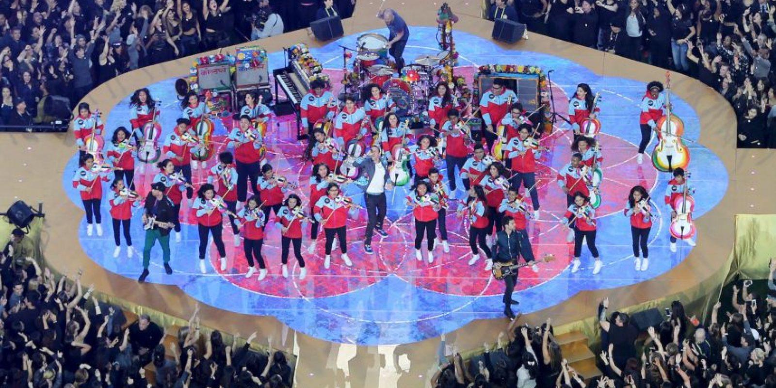 La Orquesta Juvenil de Los Ángeles los acompañó. Foto:Getty Images