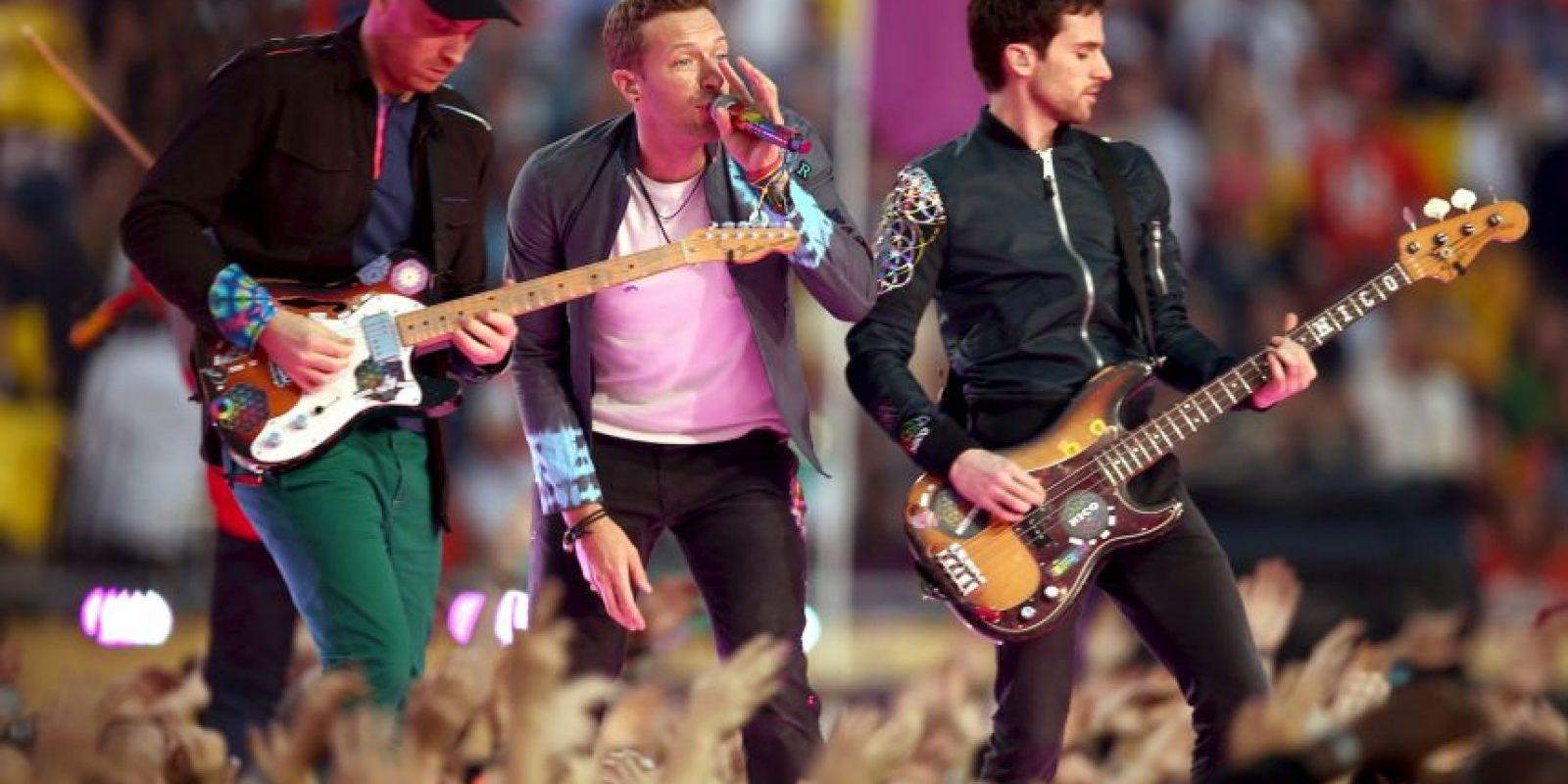 Así fue la participación de Coldplay en el Super Bowl este domingo Foto:Getty Images