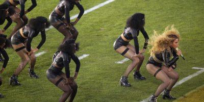 Así apareció Beyoncé el show de medio tiempo del Super Bowl 50. Foto:Getty Images