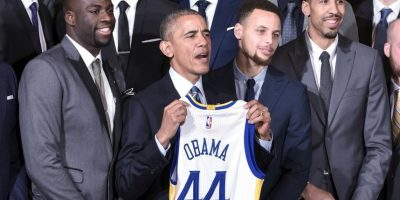 Golden State Warriors visitaron hace unos días la Casa Blanca Foto:AP