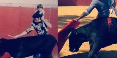 Fran Rivera, torero español, toreó con su hijo en los hombros Foto: instagram.com/f.r.paquirri