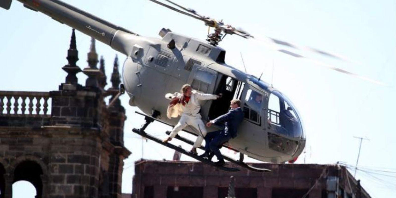 En helicóptero Foto:Spectre