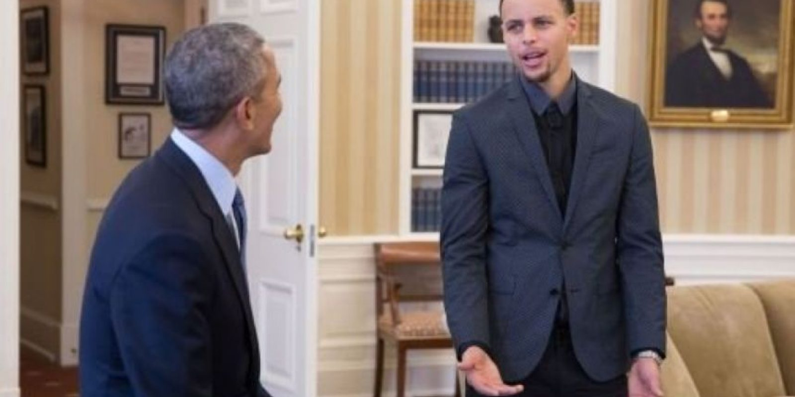 El MVP y Obama tuvieron una breve plática Foto:AP