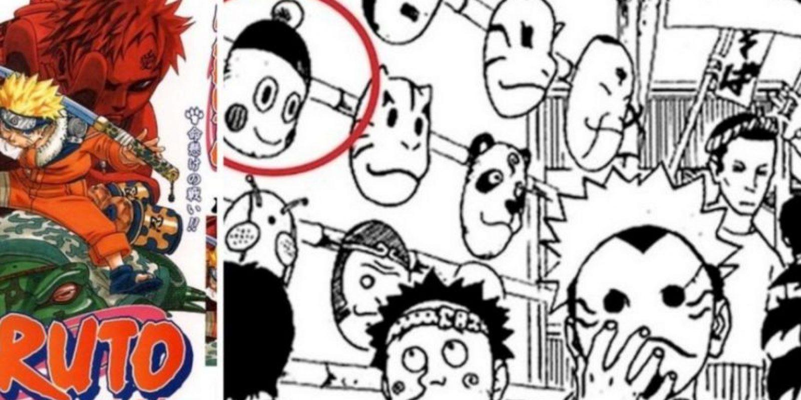 La cara de Chaos aparece en una tira de Naruto. Foto:Toei