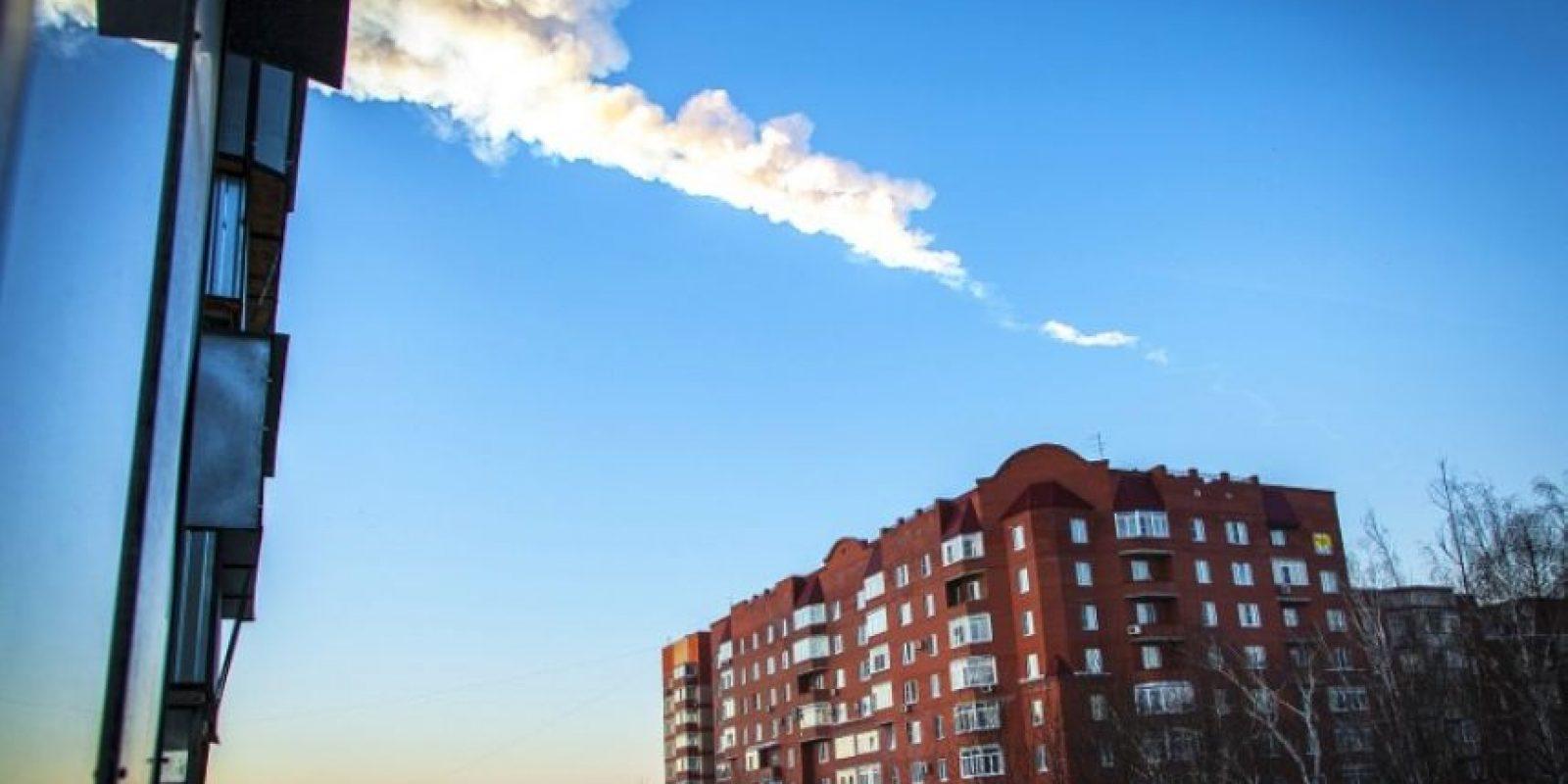 Foto del meteorito que cayó en Chelyabinks, Rusia, en 2013. Foto:AFP