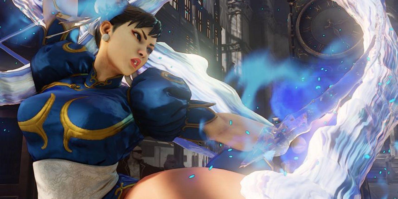 Chun-Li lanzando una patada en una imagen promocional de Street Fighter V. Foto:streetfighter.com