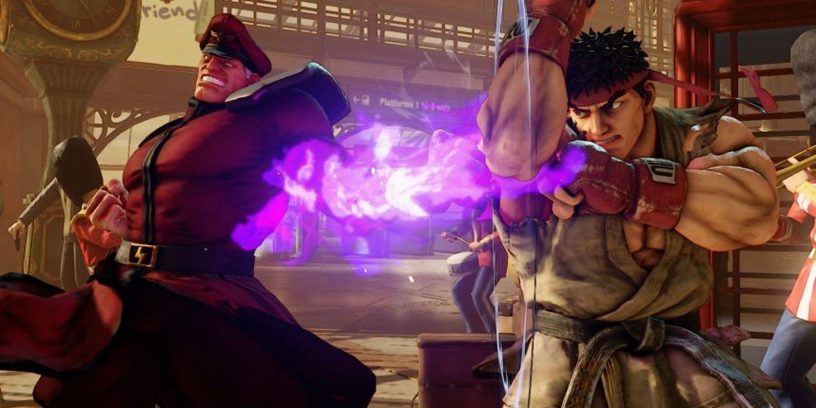 M. Bison y Ryu durante una batalla en el nuevo Street Fighter V. Foto:streetfighter.com