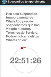 3. Cuando WhatsApp sospecha que violaron los términos de su servicio. Foto:Twitter