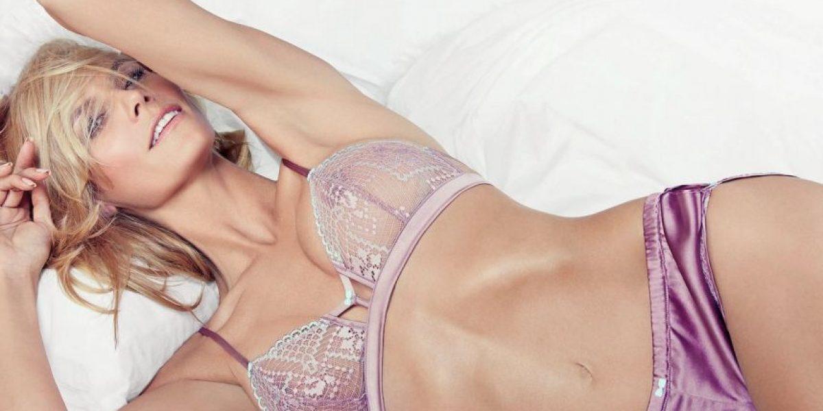 Heidi Klum protagoniza sugerente sesión de fotos en ropa íntima
