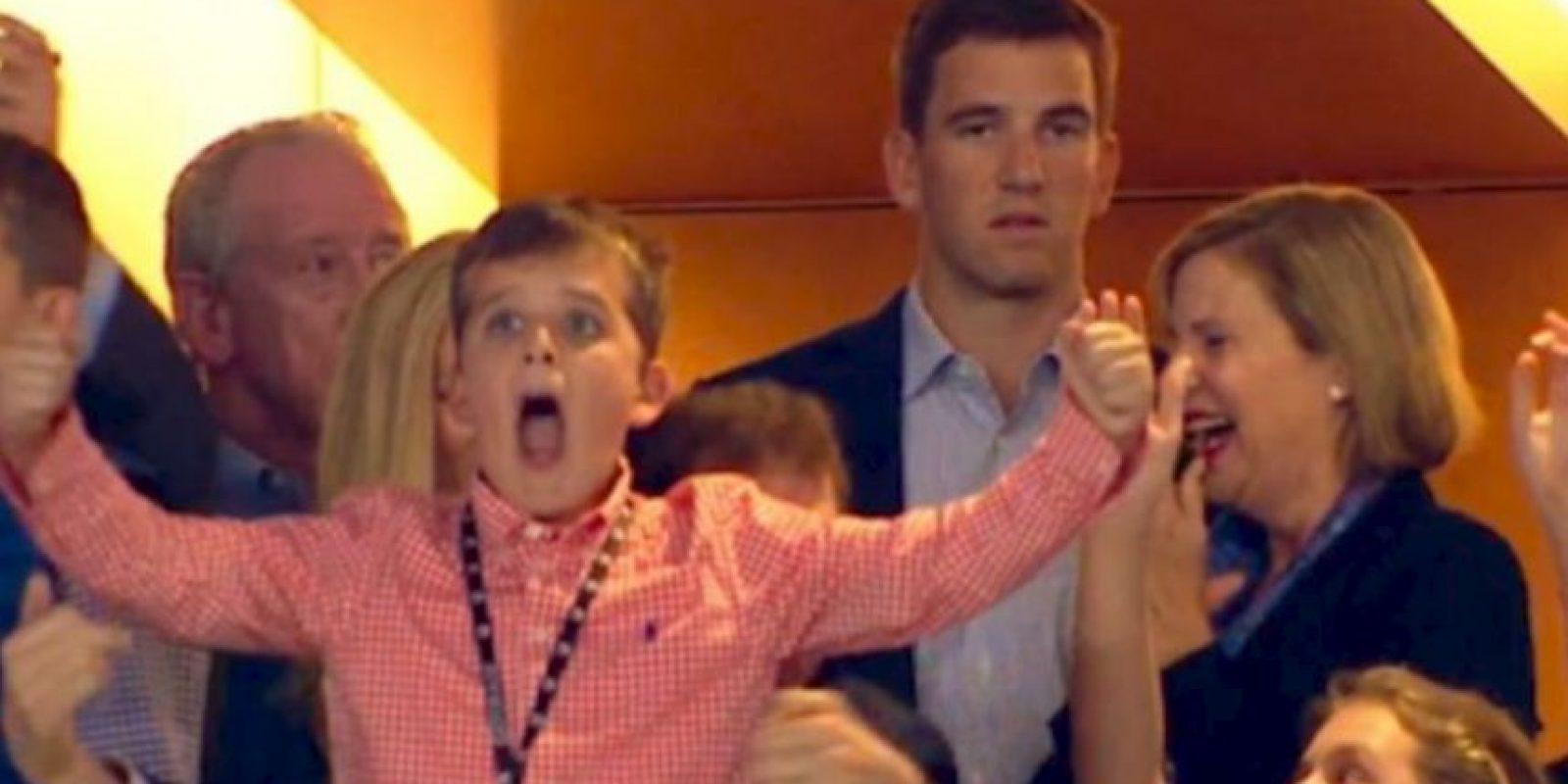 El nulo festejo de Eli Manning se hizo viral Foto:Twitter