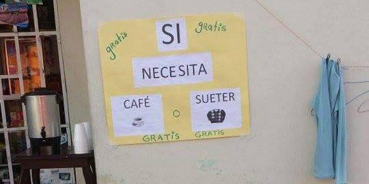 Solidaridad guatemalteca: ¿Un café o un suéter para pasar el frío?