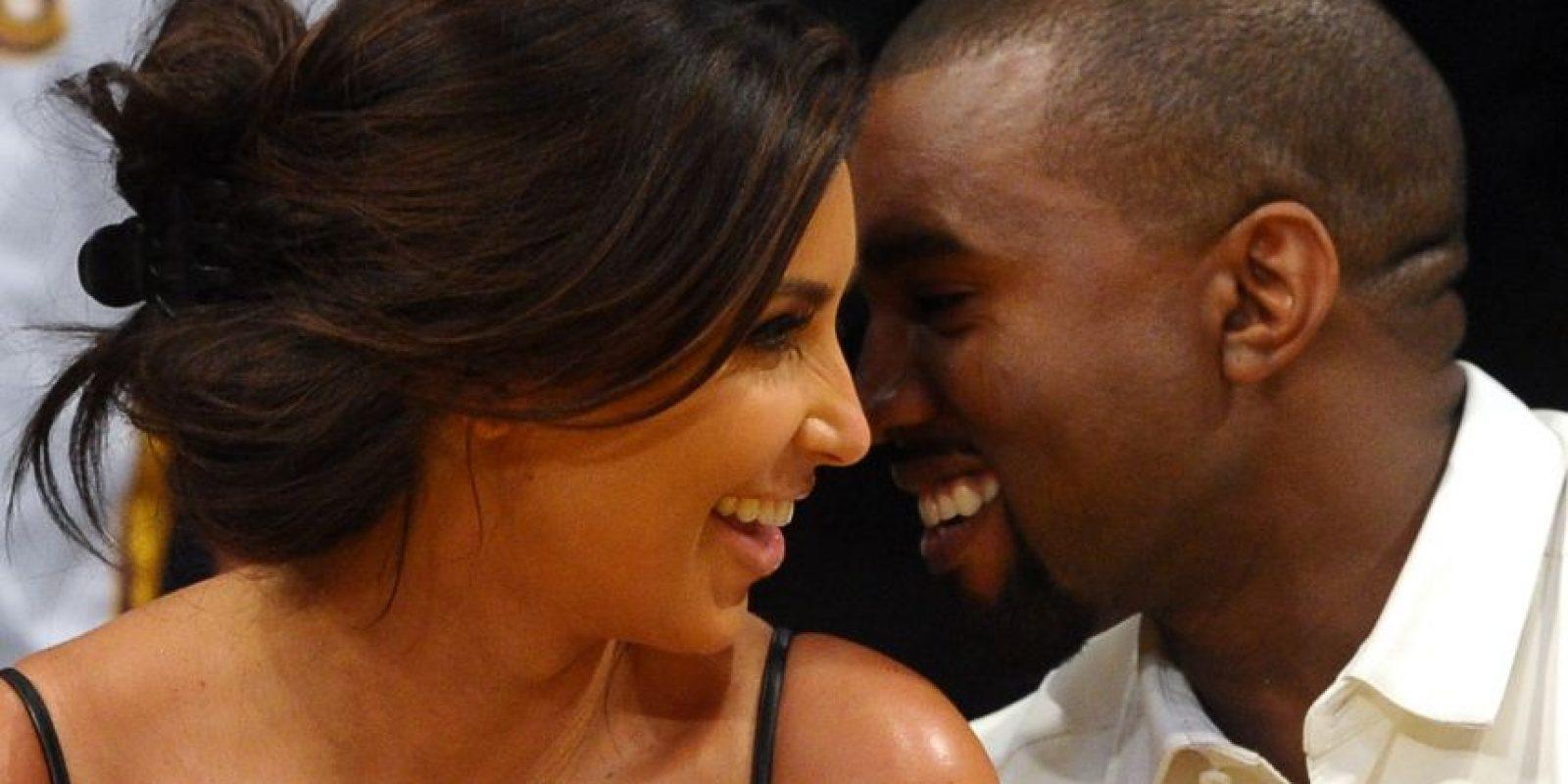 Kim Kardashian y Kanye West Foto:Getty Images