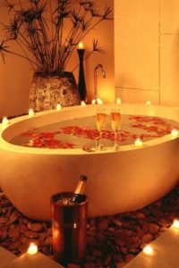 Un baño romántico Foto:Pinterest