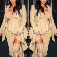Así cambió el cuerpo de Kim Kardashian durante su último embarazo Foto:Vía Instagram/@kimkardashian