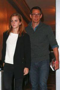 """Emma Watson fue vista en el musical """"Hamilton"""", en Broadway, en la ciudad de Nueva York, acompañada de William Knight. Foto:Grosby Group"""