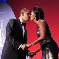 El 30 de junio de 1989 el ahora matrimonio Obama tuvo su primer cita. Foto:Getty Images