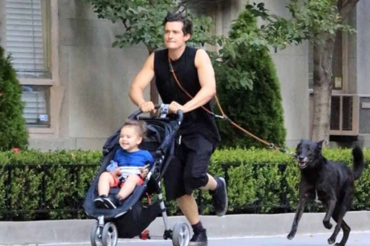 Orlando Bloom y sus amados perros Foto:Getty Images