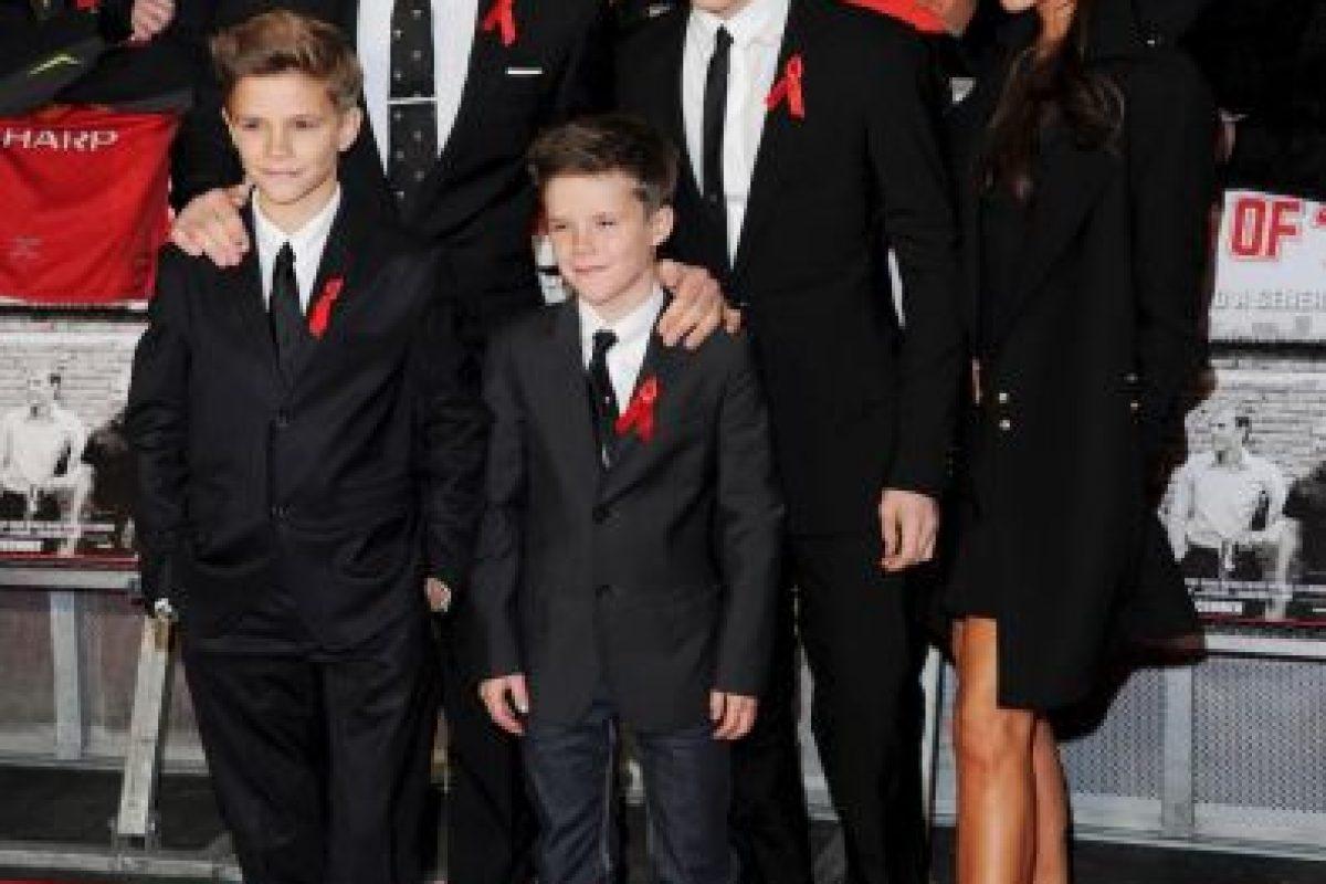 Aquí la familia Beckham Foto:Getty Images