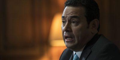 FOTOS. El cansado rostro de Jimmy Morales tras un mes en el cargo