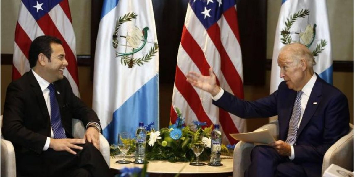 Presidente Jimmy Morales se reunirá en Washington con vicemandatario Joe Biden