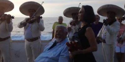Rubén Aguirre invitó a Florinda Meza para una reunión muy especial en Puerto Vallarta Foto:Twitter.com/ForumChaves