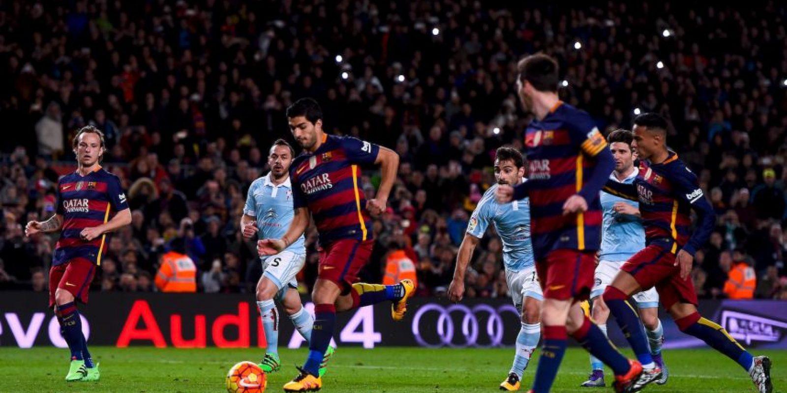 El charrúa solo tuvo que empujar el balón Foto:Getty Images