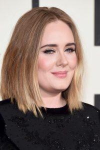 Así lució Adele en los Grammy este lunes. Foto:Getty Images